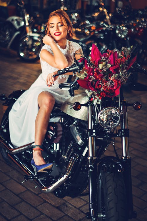 Gratis lagerfoto af brud, harley davidson, mode, motorcykel