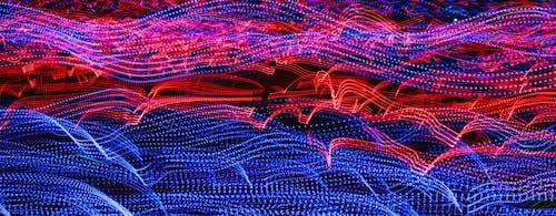 Foto d'estoc gratuïta de corbes, exposició prolongada, led, llums