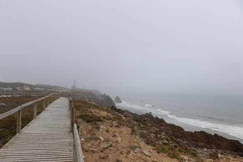 Photos gratuites de bord de mer, brouillard, brumeux, calme