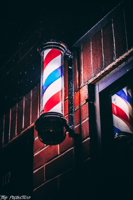 Foto d'estoc gratuïta de aigua, barber pole, blanc, blau