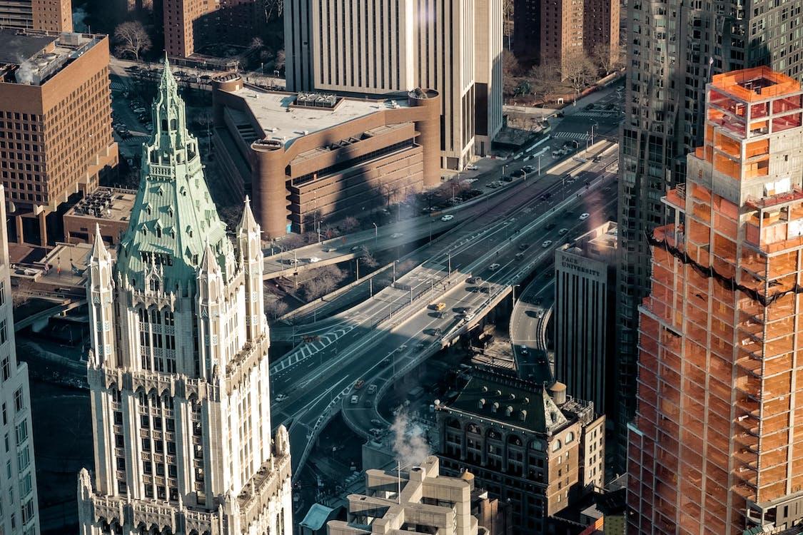 Amerika, autópályák, belváros