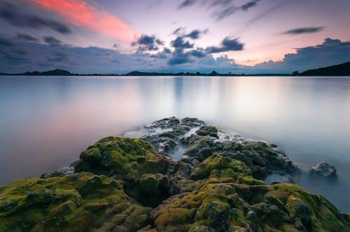 bulutlar, dingin, gün doğumu, kayalar içeren Ücretsiz stok fotoğraf