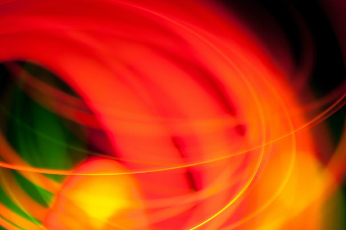 appelsin, bevægelse, lang eksponering