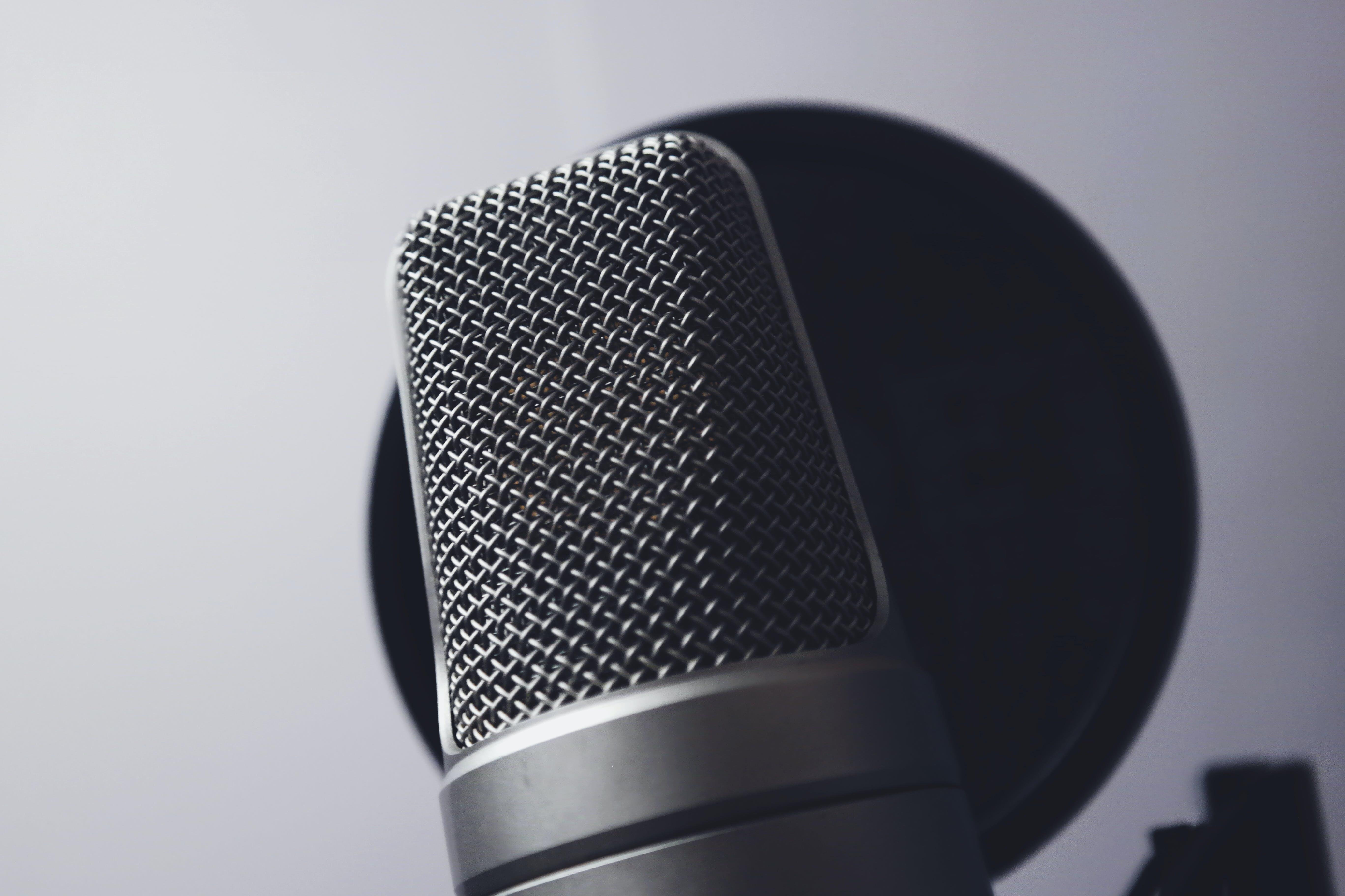 Silver Condenser Microphone