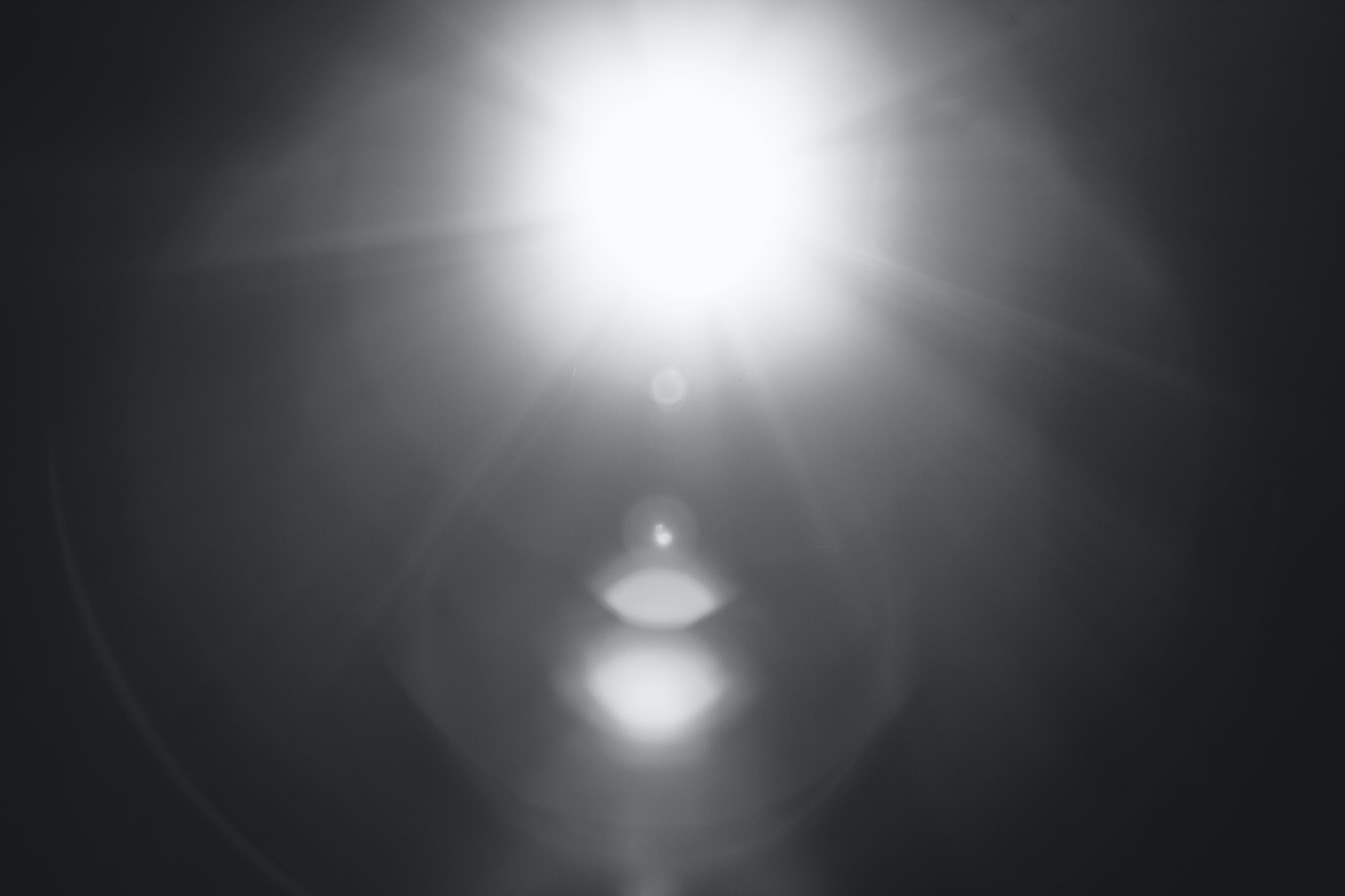 Black and White Sun Glare