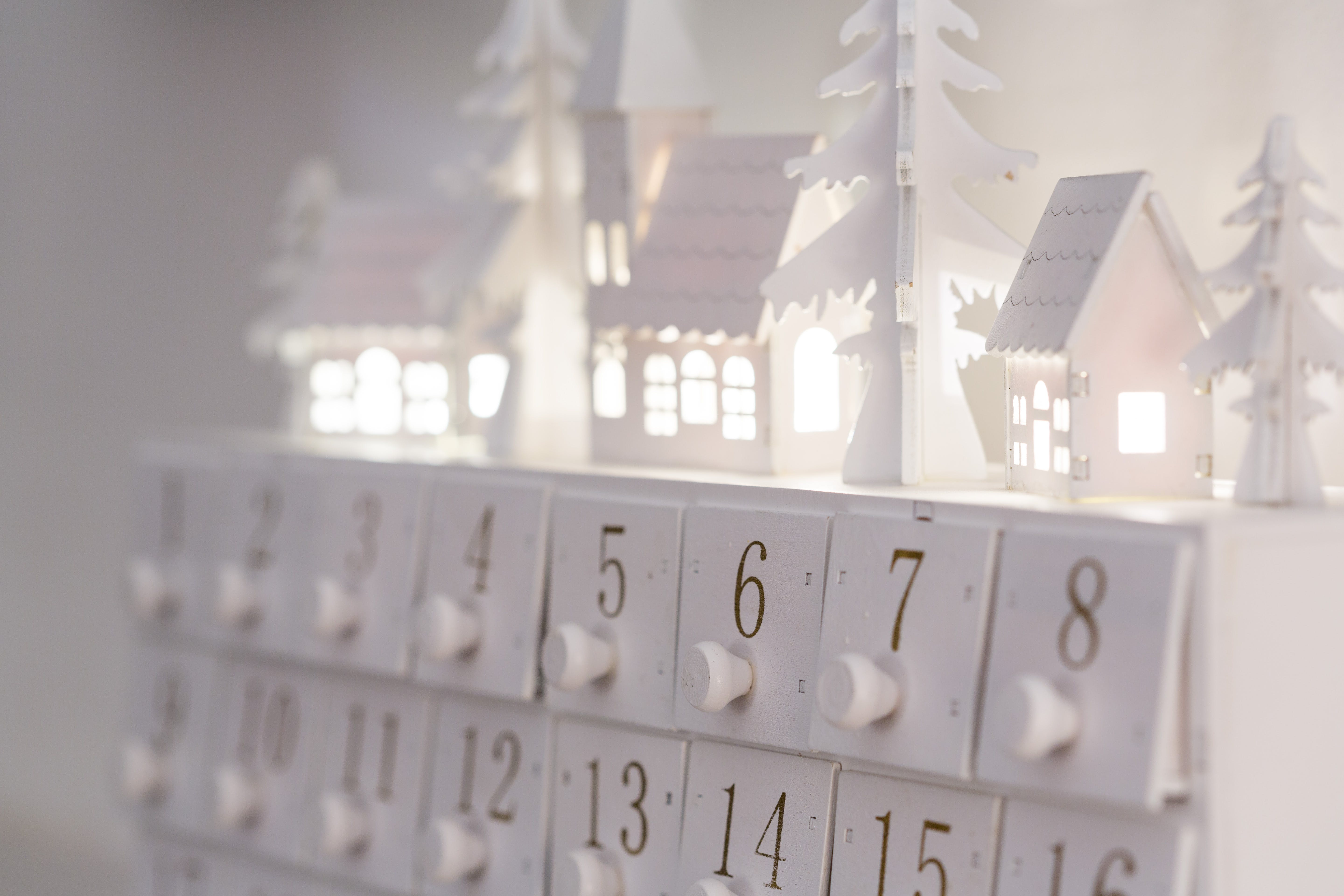 White Calendar on White Surface
