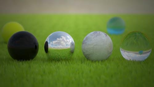 Kostenloses Stock Foto zu ball, farbe, feld, glas