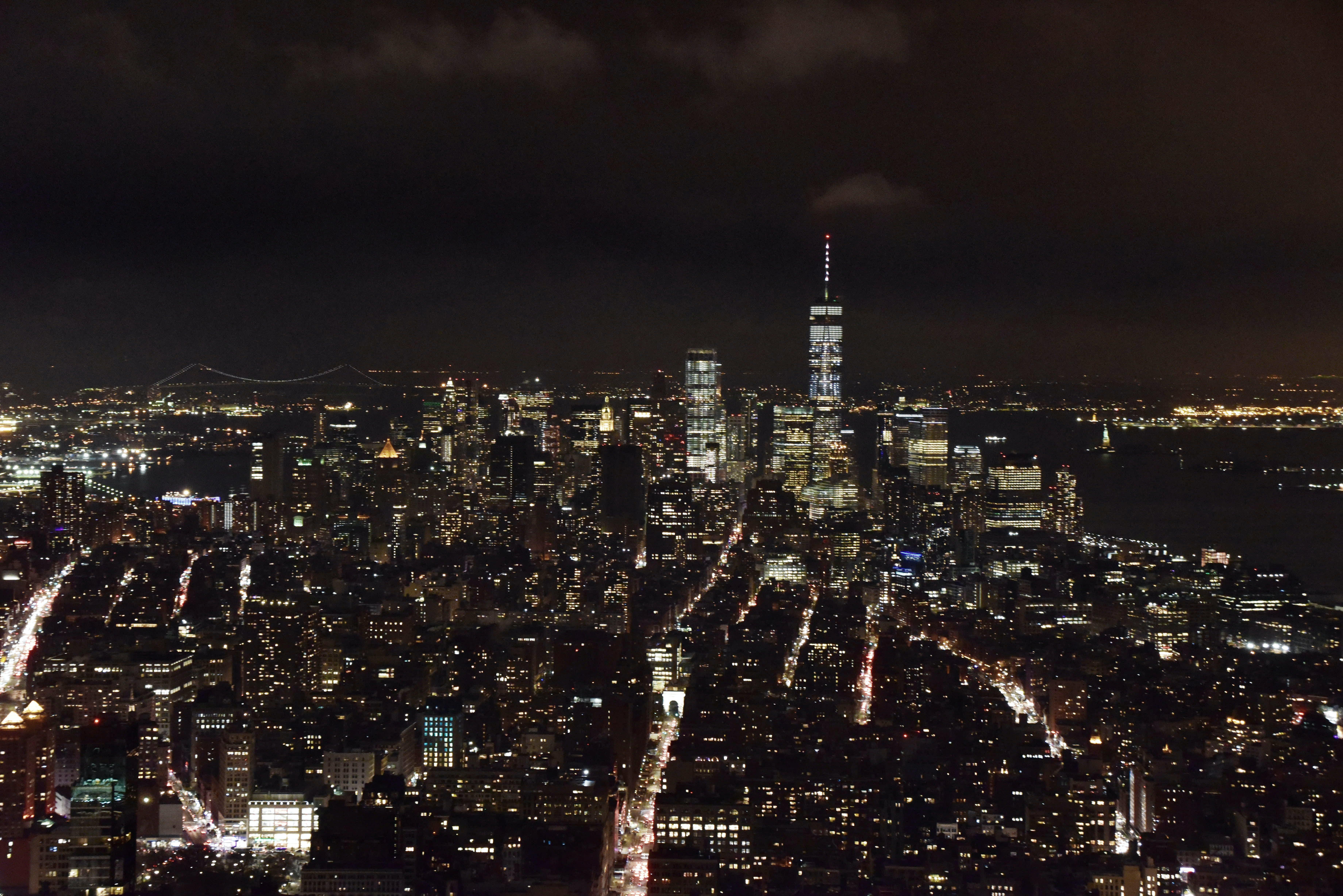 Free stock photo of night city