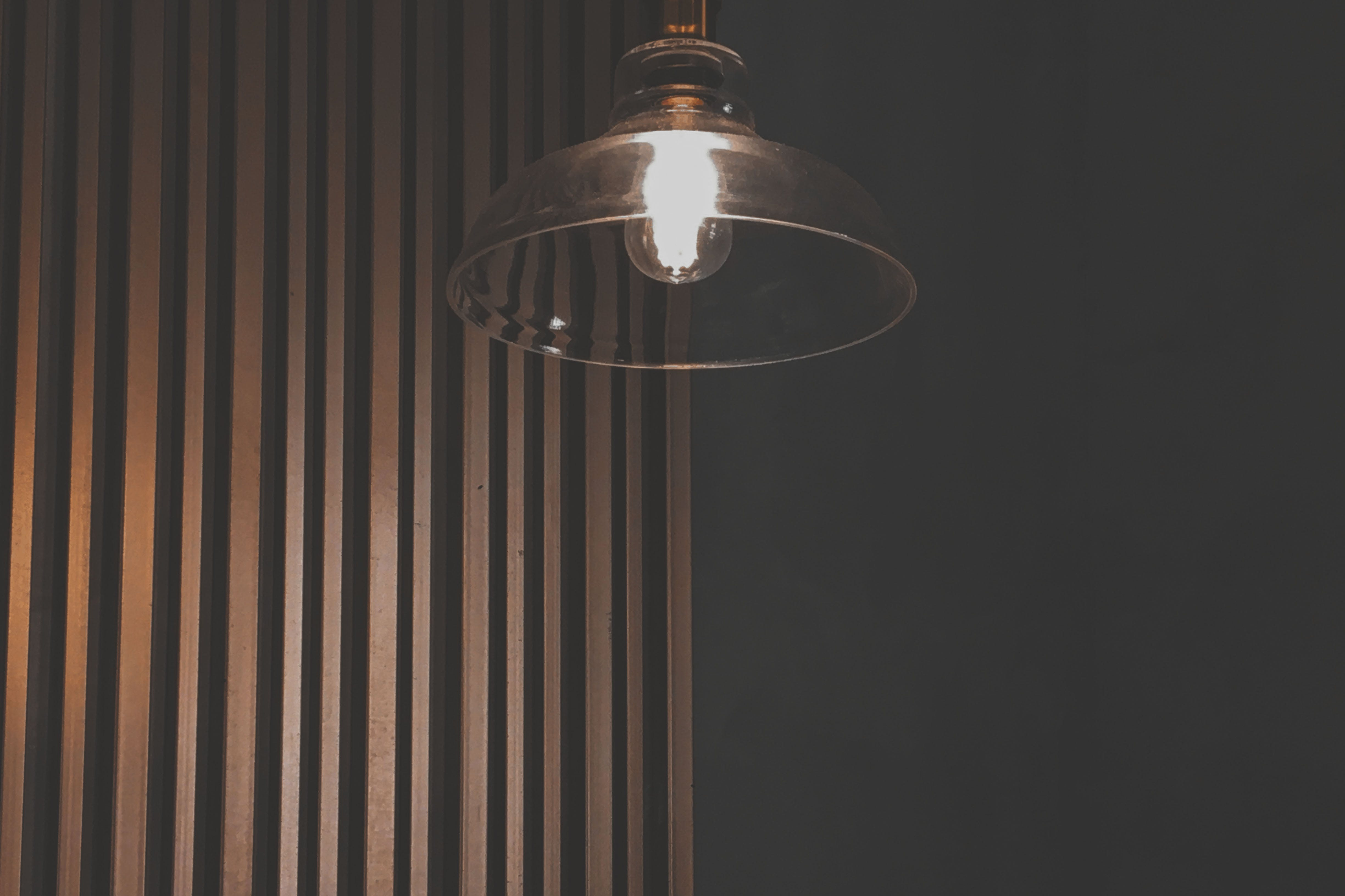 Photo of Turned-on Pendant Light
