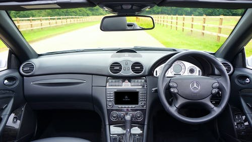 Black Mercedes Benz Car Interior