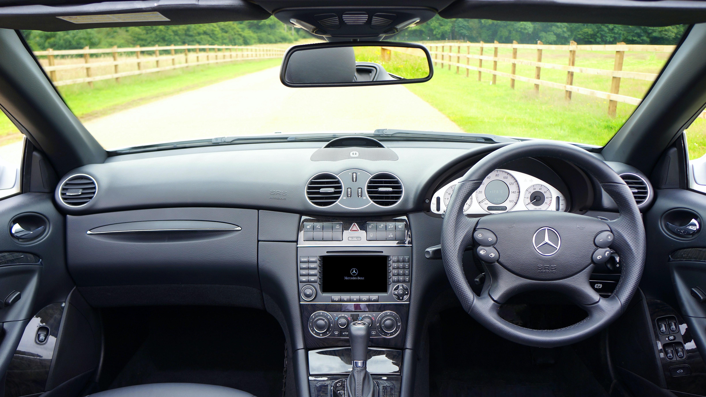 Black Mercedes Benz Car Interior
