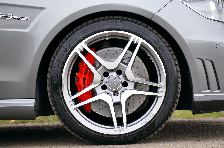 Black Rubber Mercedes Benz Automotive Wheel