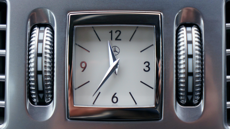 Grey Mercedes-benz Vehicle Clock at 11:36 O'clock