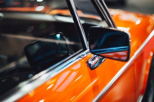 Shiny orange red retro car