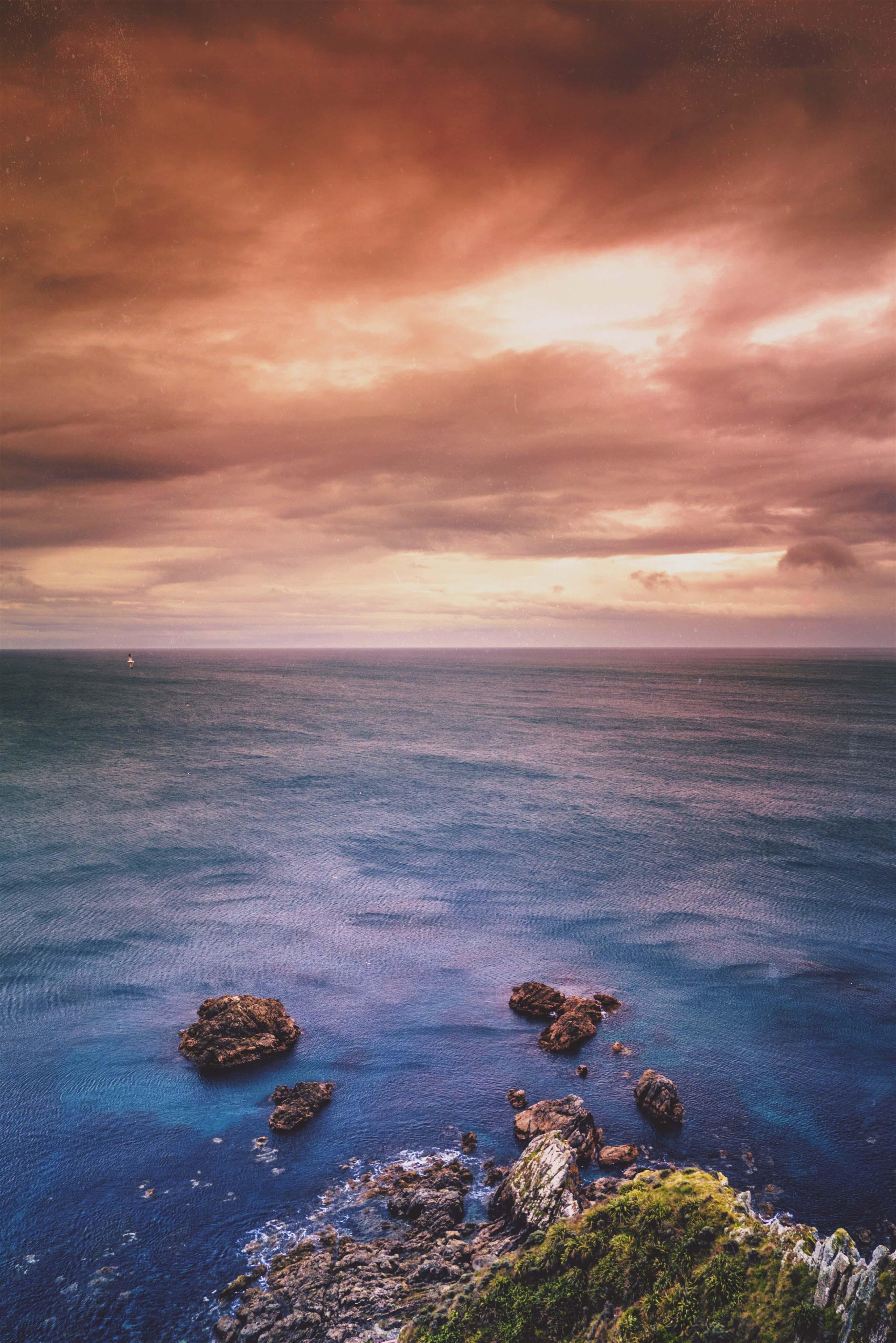 경치, 구름, 돌, 물의 무료 스톡 사진