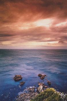 Free stock photo of sea, landscape, sky, water