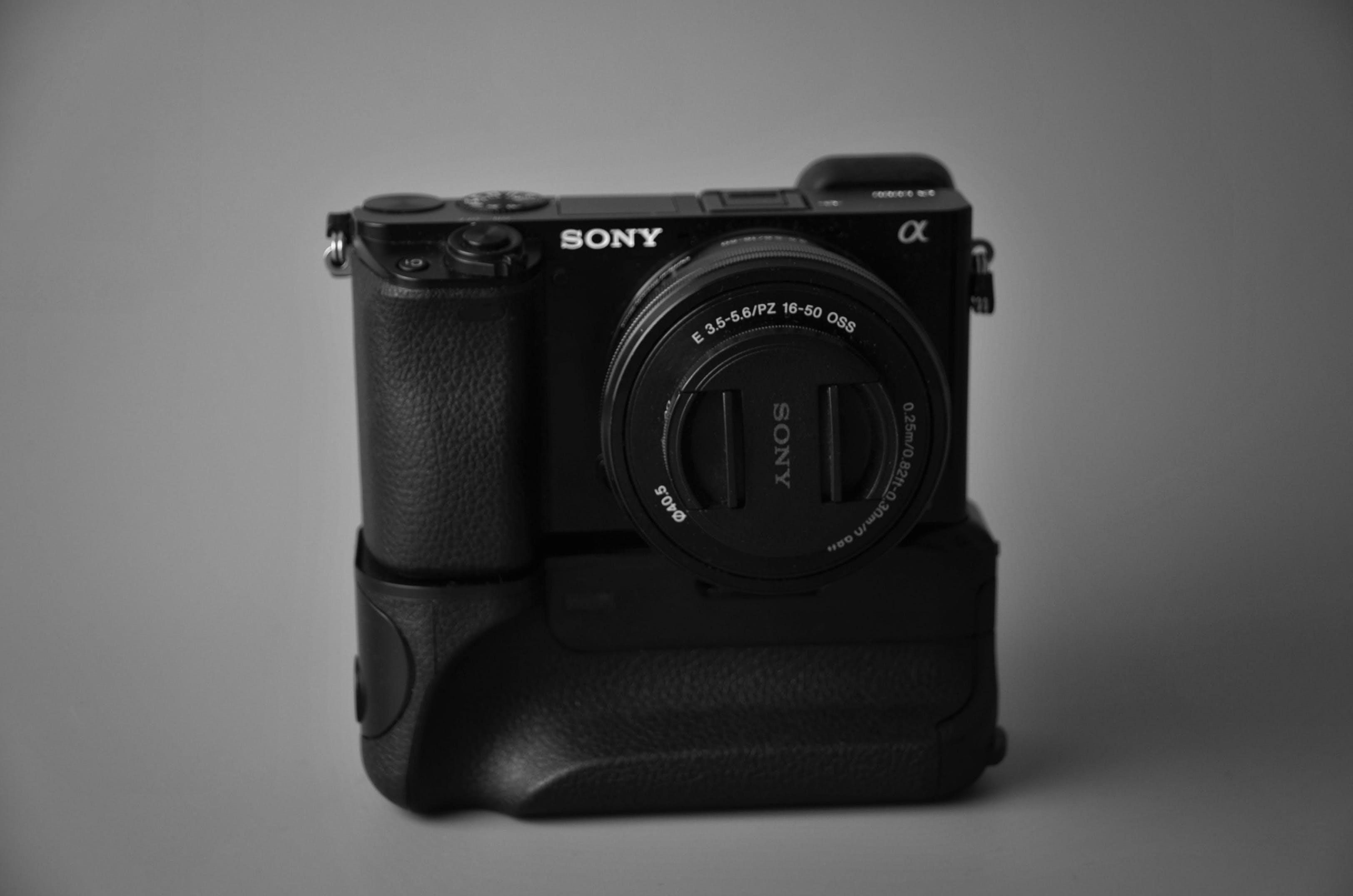 Close Up Photography of Black Sony Camera