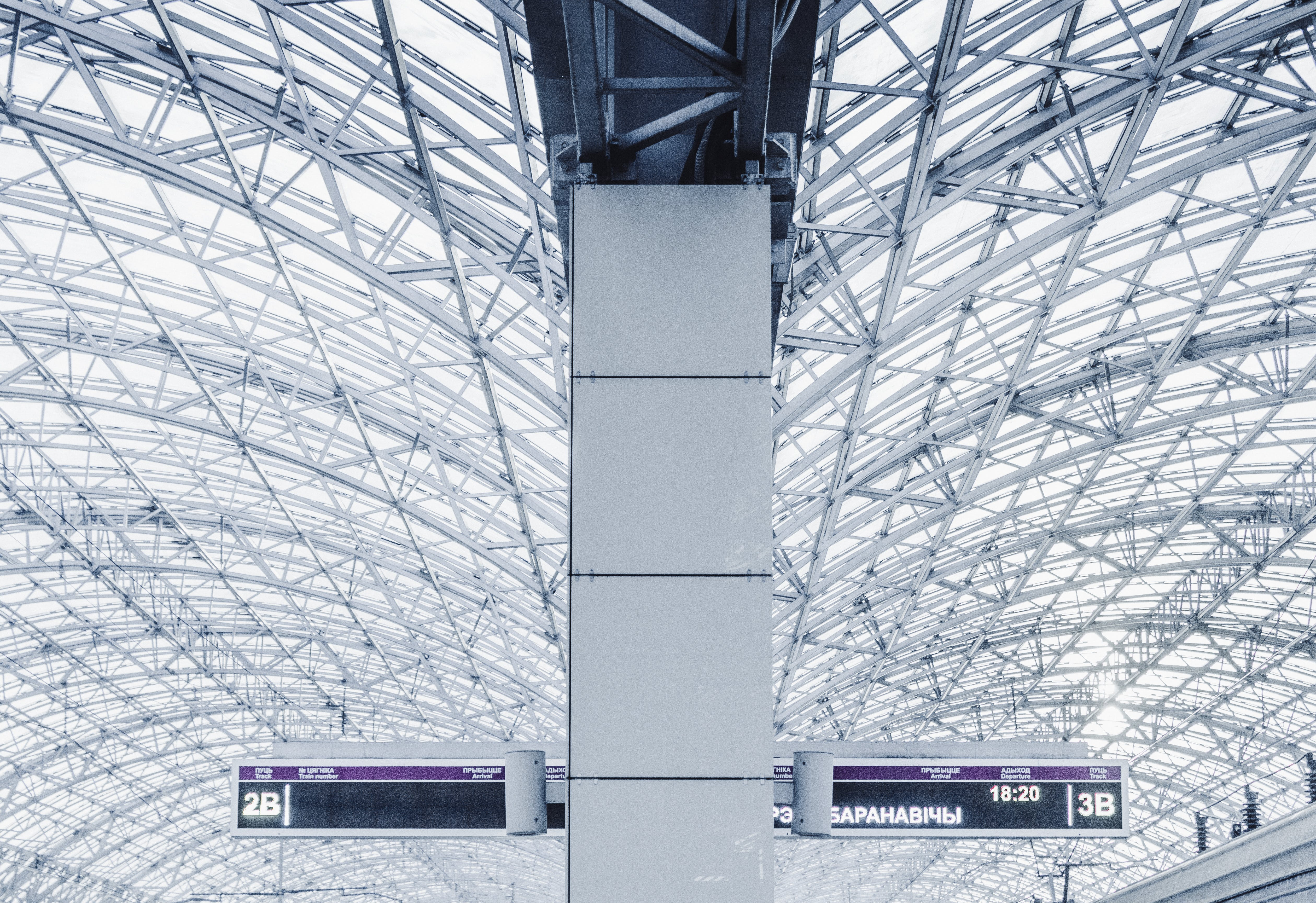 View of Terminal Led Route Signs