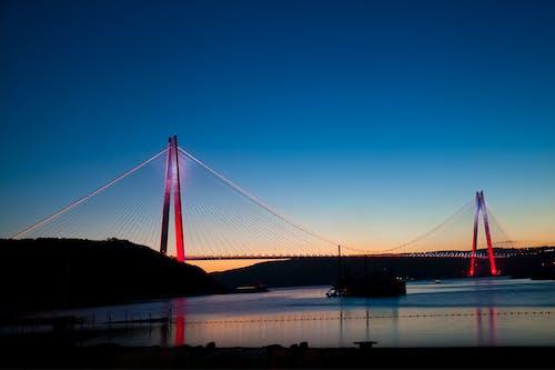 イスタンブール, ブリッジ, 夜, 夜景の無料の写真素材