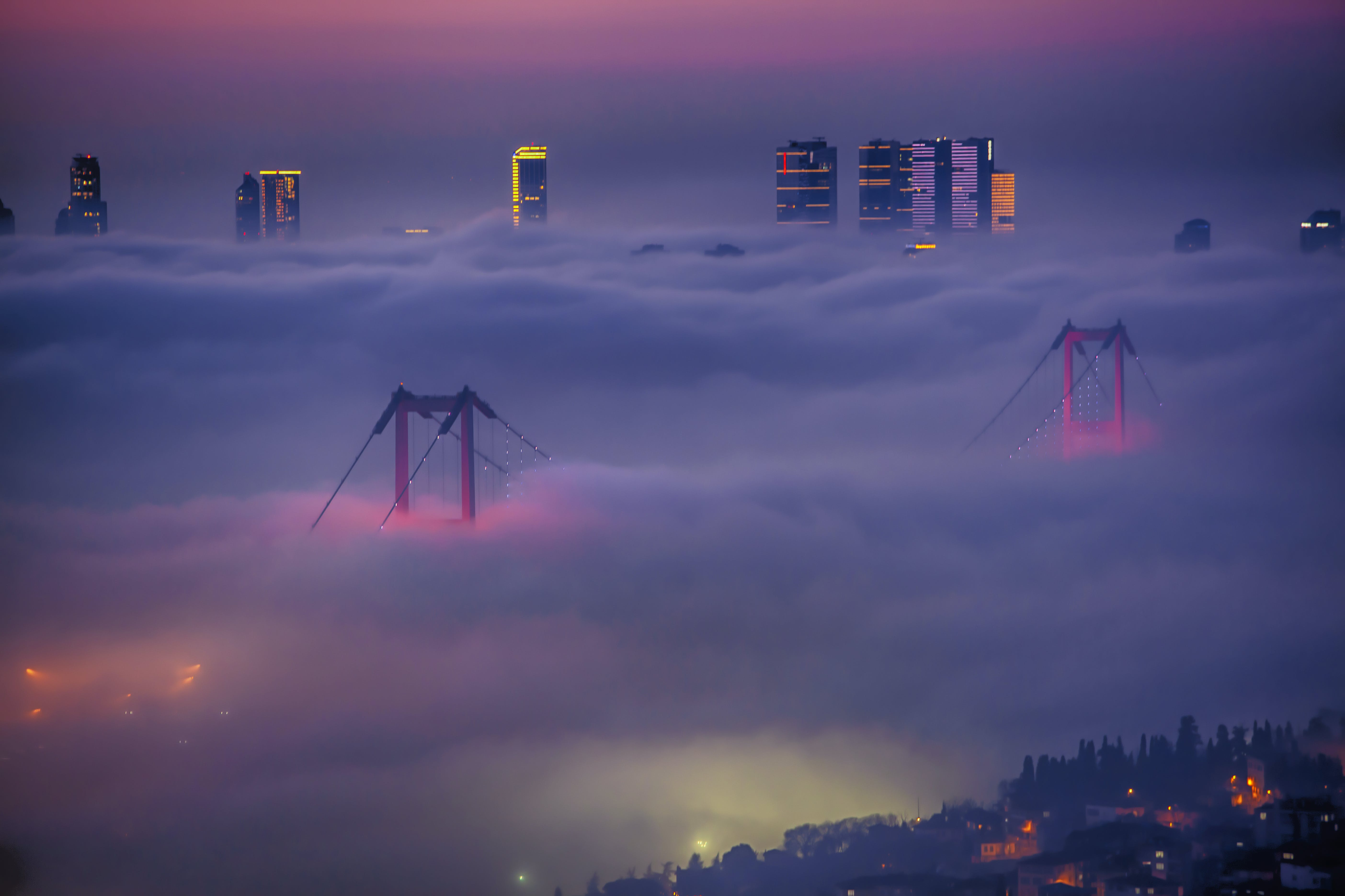 Free stock photo of fog, foggy, Foggy landscape, Istanbul