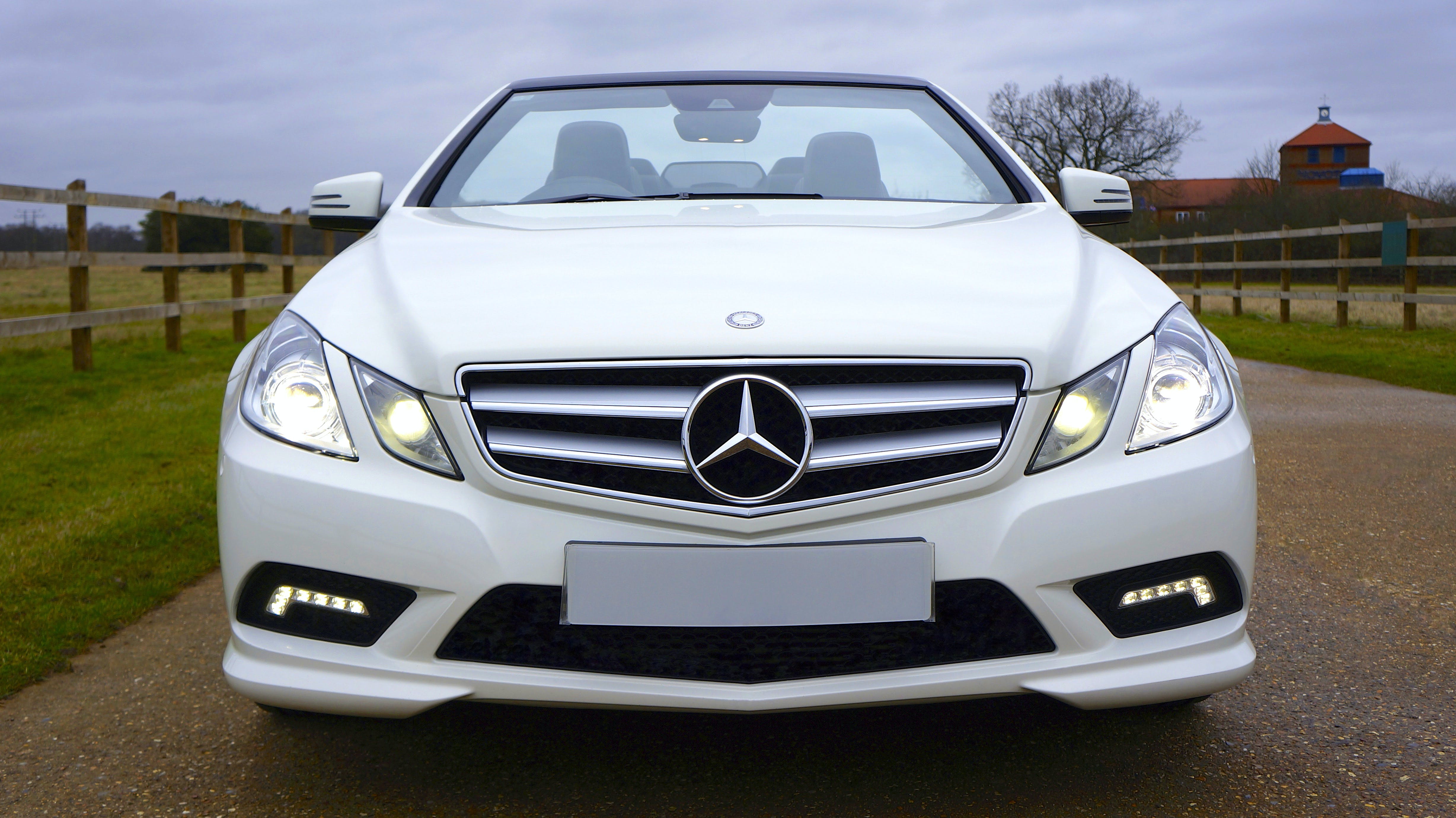 White Mercedes-benz Car
