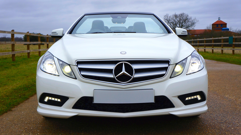 White Mercedes Benz Car Free Stock Photo
