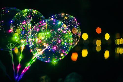 Безкоштовне стокове фото на тему «led-лампи, повітряна куля»