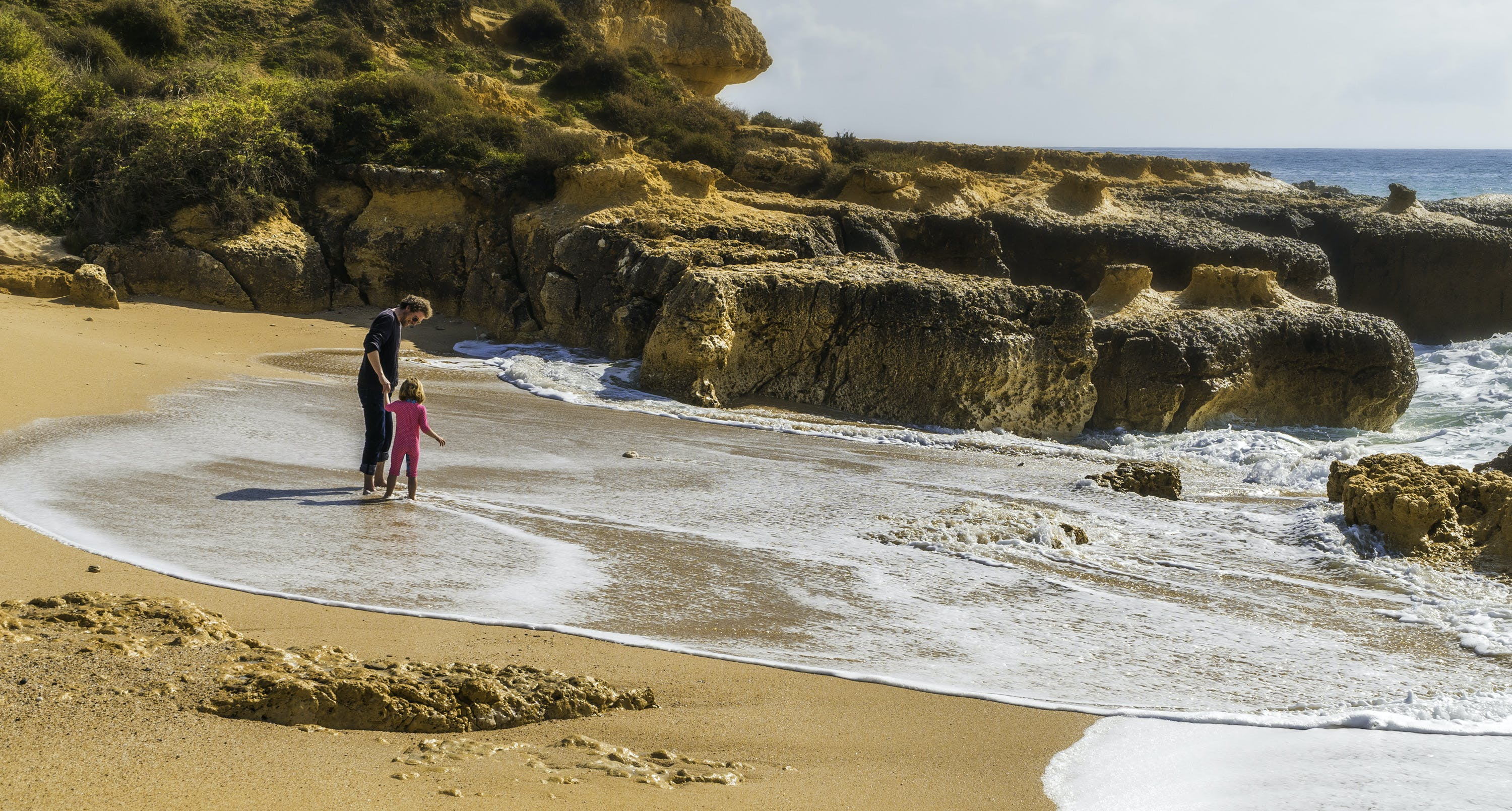 Free stock photo of beach, father and child, father and daughter