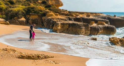 Ingyenes stockfotó apa és gyermeke, apa és lánya, strand témában