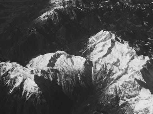 Foto d'estoc gratuïta de alp, alps, blanc i negre, fons
