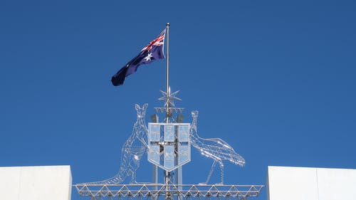 Free stock photo of act, australian flag, canberra, coat of arms
