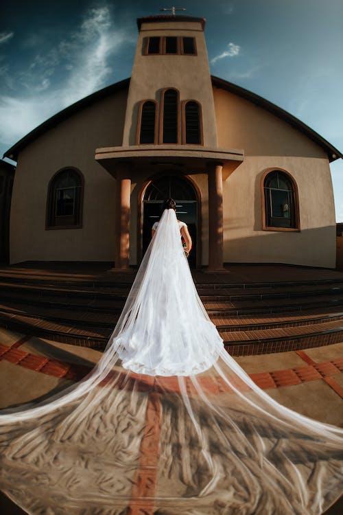 女人, 婚禮, 建築, 建造 的 免费素材图片