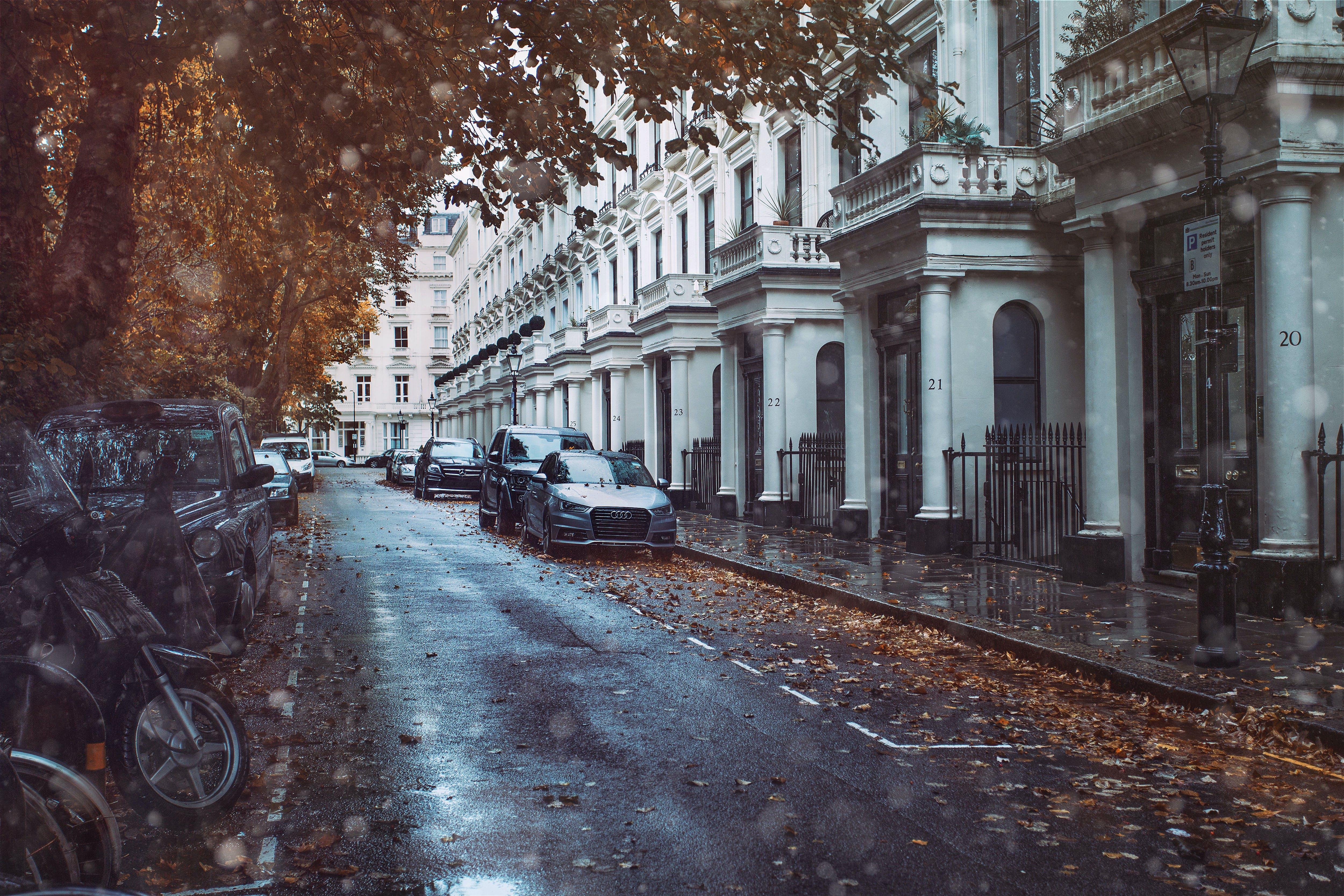 Free stock photo of europe, london, rain, street