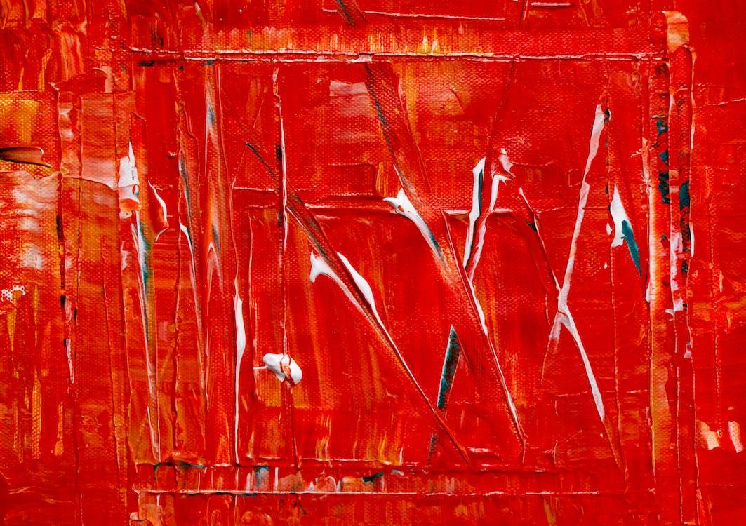 Peinture Rouge Et Blanche