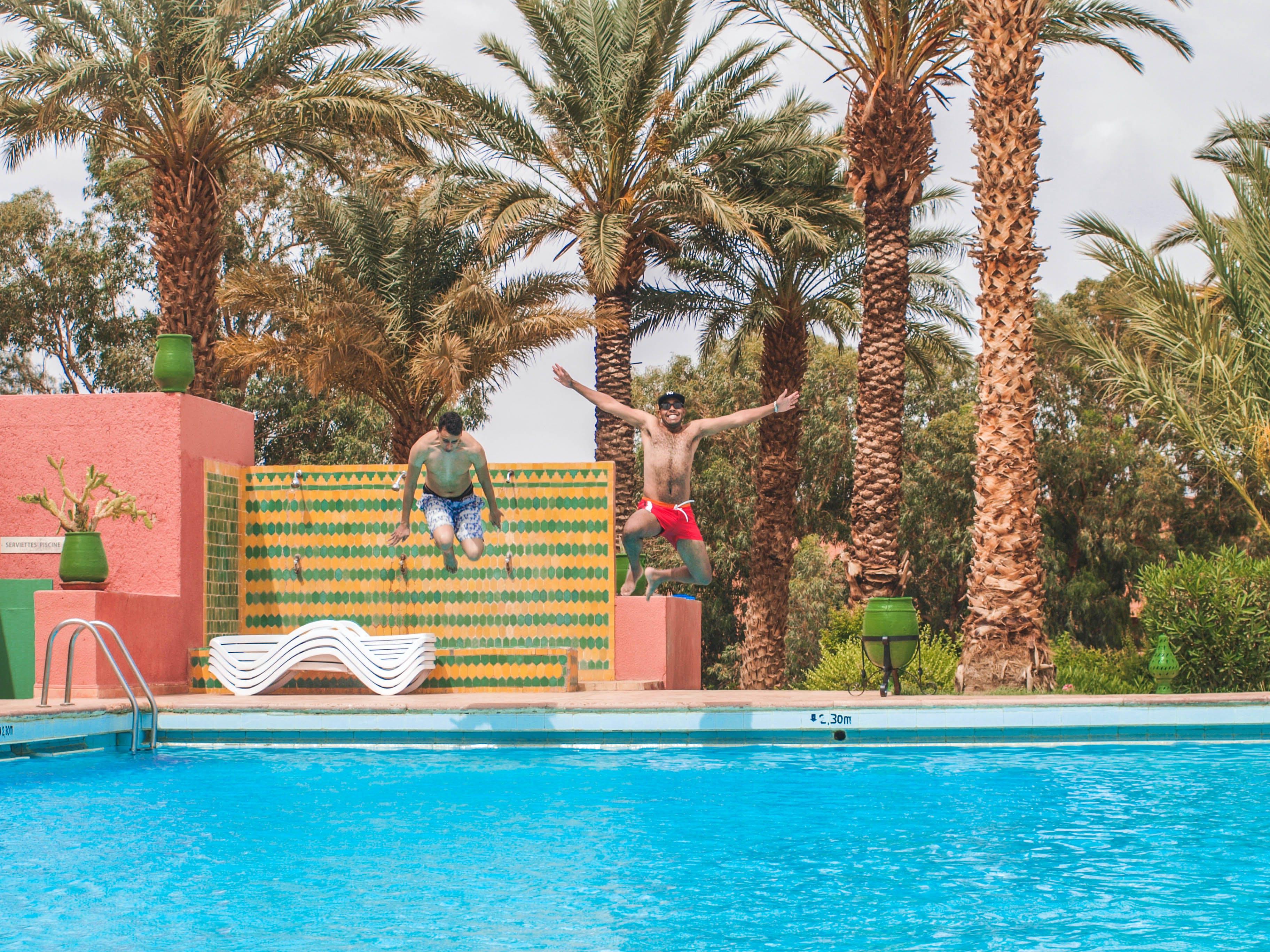Immagine gratuita di acqua, alberi, bordo piscina, donne africane