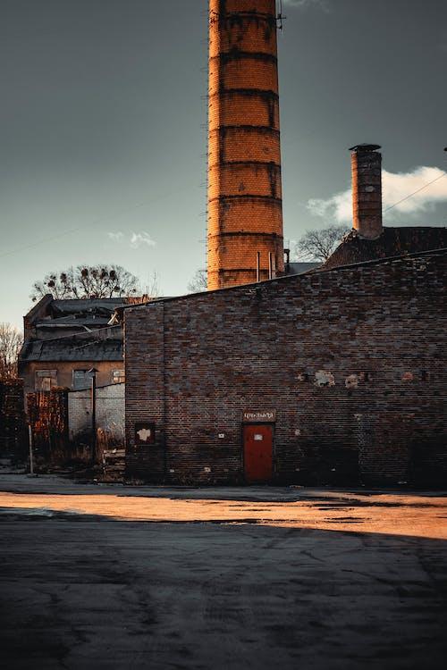 れんが壁, レンガ, 古い工場