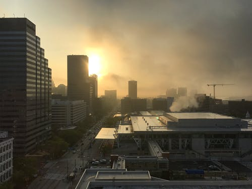 Fotobanka sbezplatnými fotkami na tému baltimore, budovy, mesto, slnko