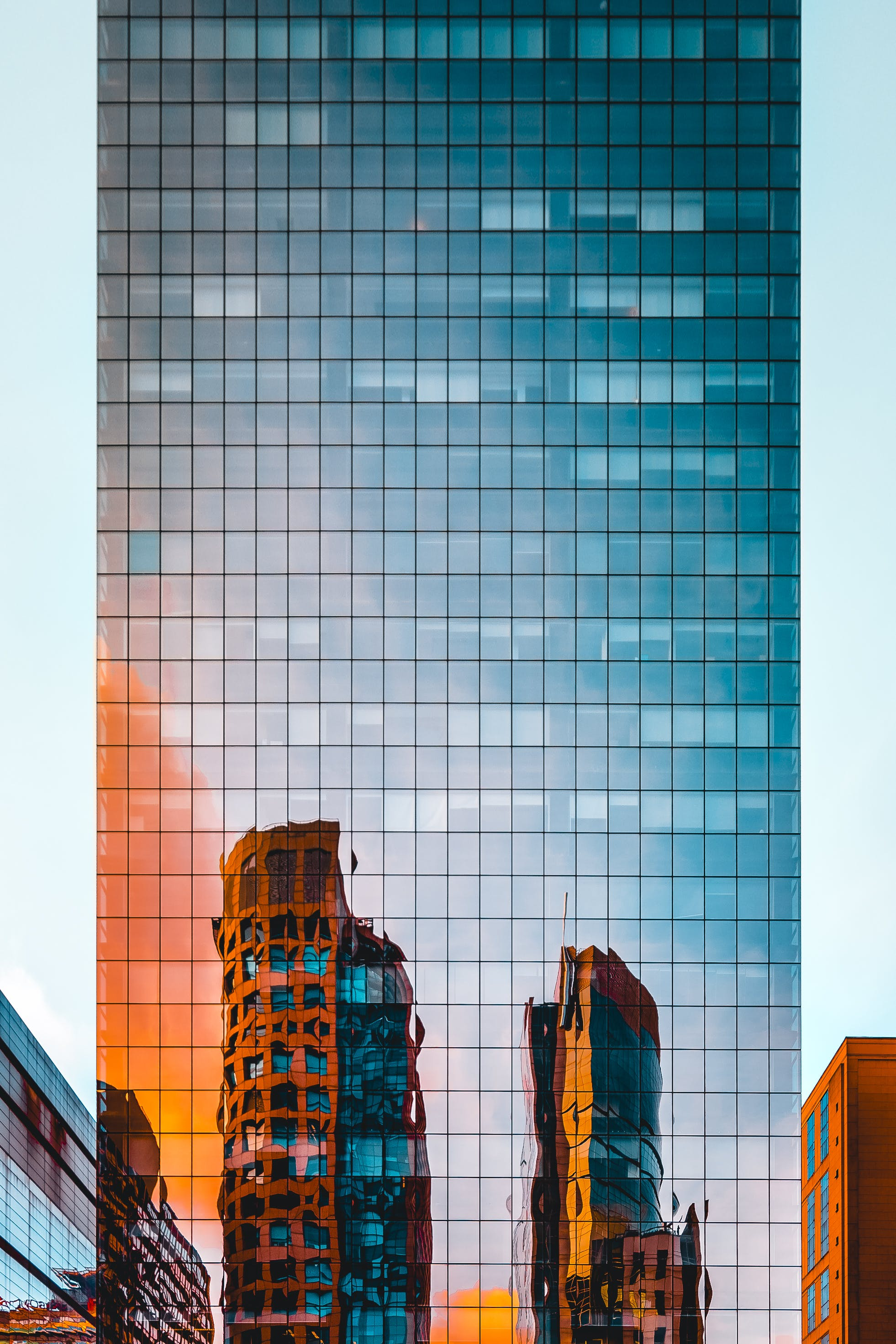 Mirror Facade of Tall Building