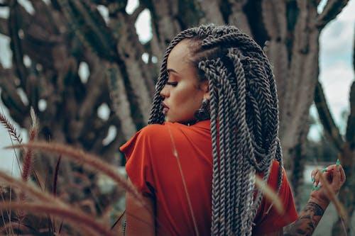 Woman In Braided Hair