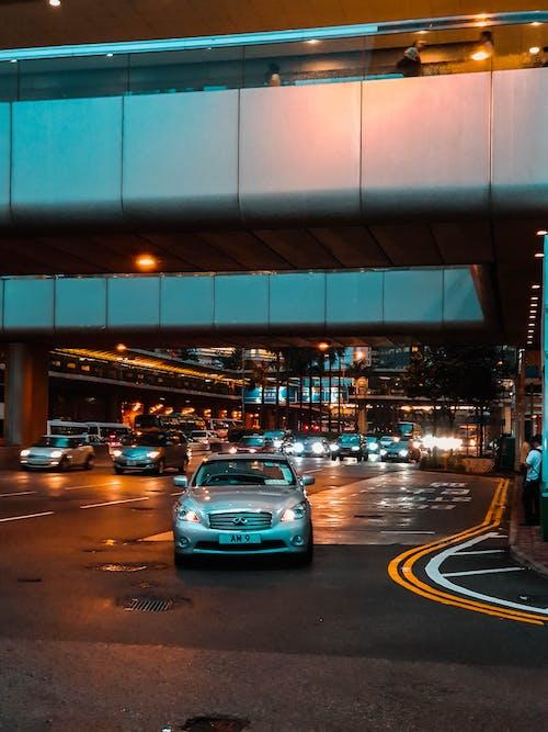 Free stock photo of cars, hong kong, orange, orange and teal
