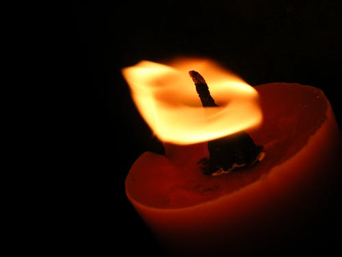Closeup Photography of Red Candle