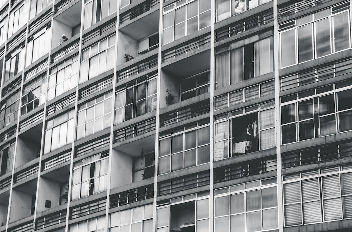 公寓樓, 城市, 外觀