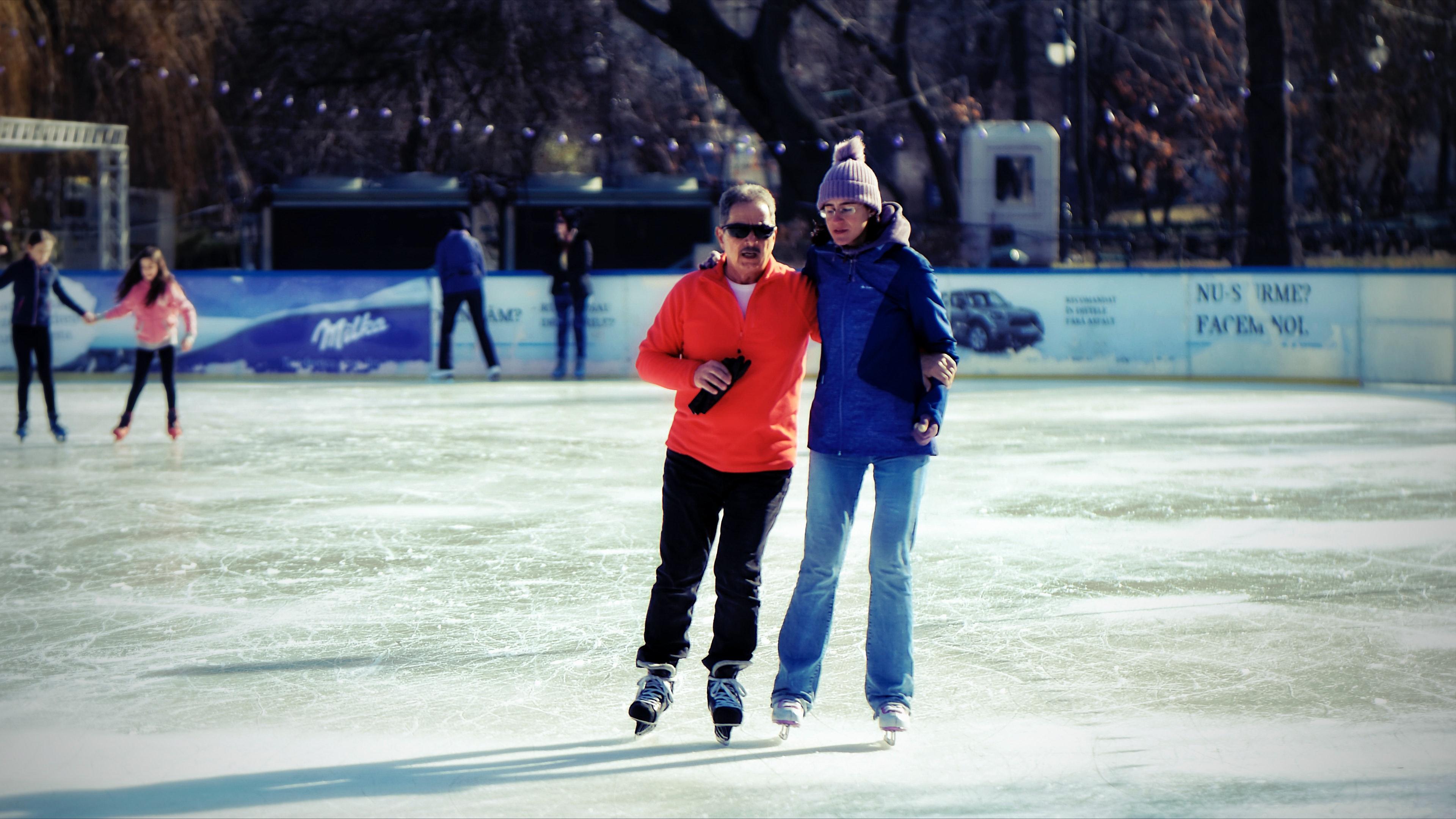 Free stock photo of ice, ice skating rink, people skating