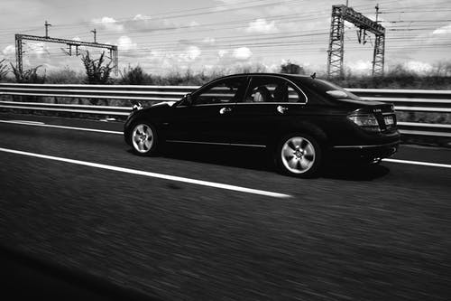 Free stock photo of #outdoorchallenge, black and white, car, drive