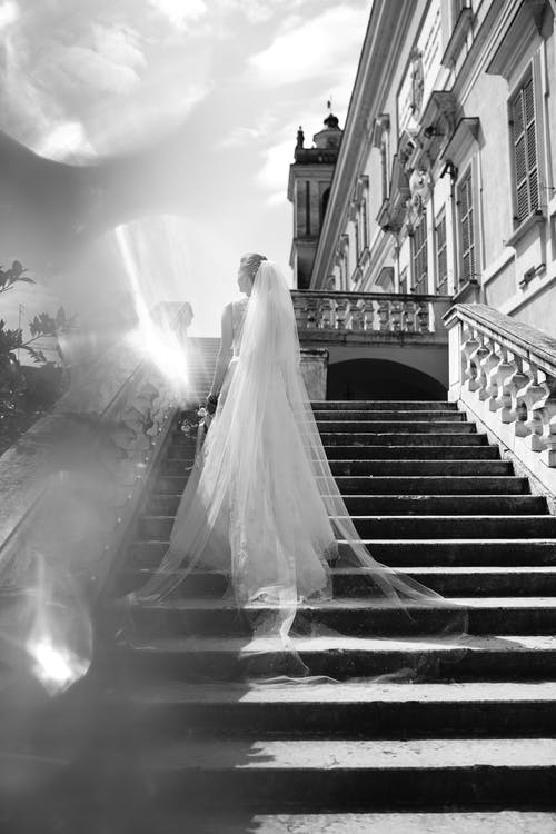 Free stock photo of black and white, bride, challenge, emotions