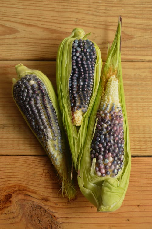 Three Green Corns
