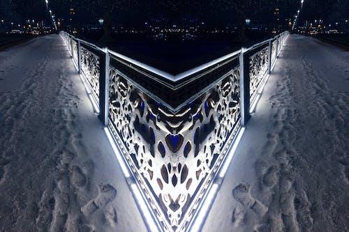 Free stock photo of city, fence, light