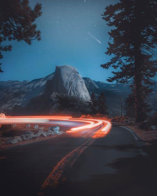 Imagine de stoc gratuită din autostradă, dâre de lumină, drum, expunere lungă
