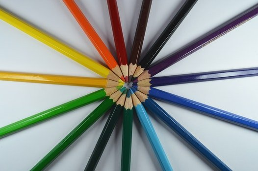 Free stock photo of art, pens, colorful, colourful