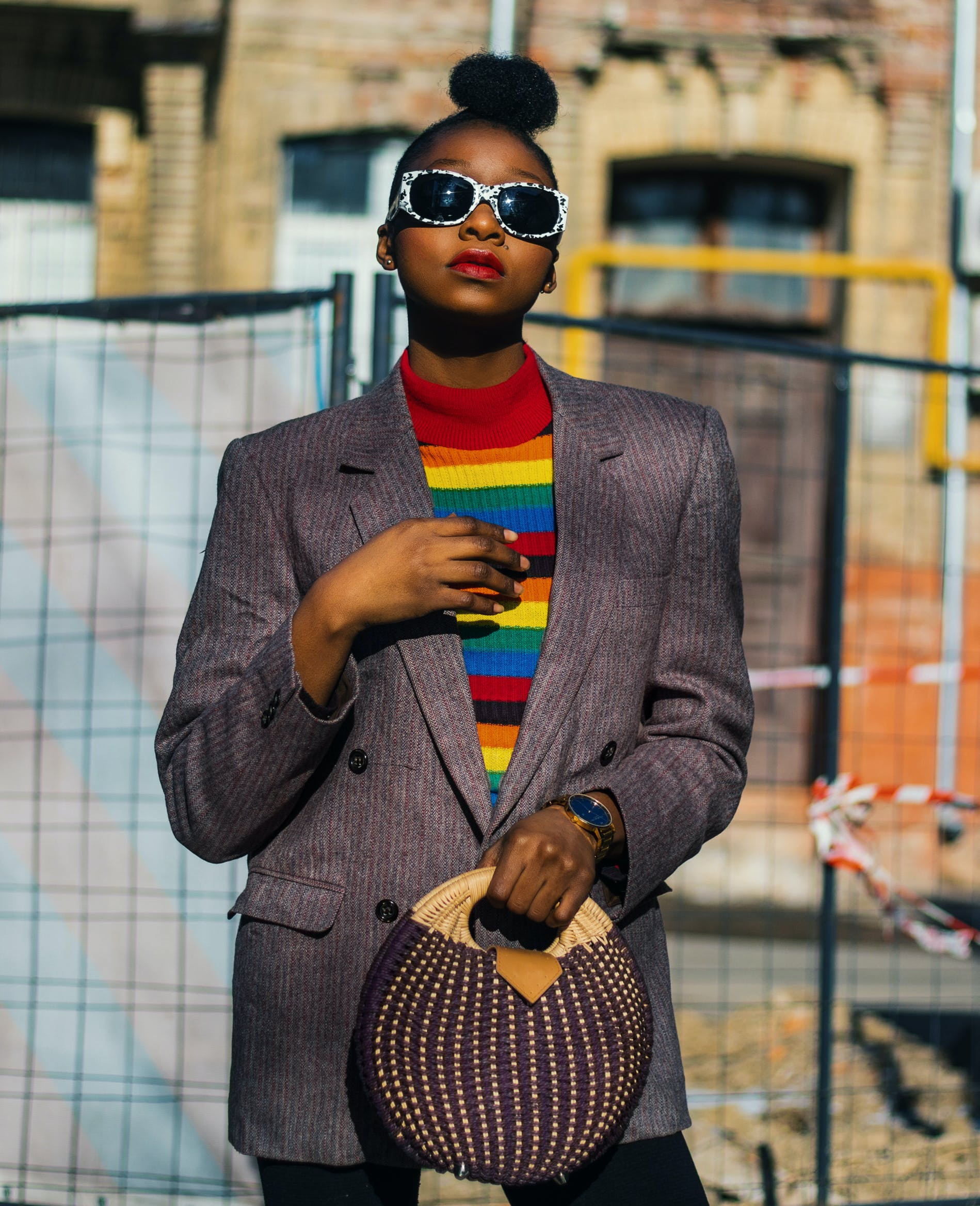 Free stock photo of beautiful, black girl, colorful, fashion